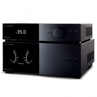 STR Preamplifier pictured with STR Power Amplifier (sold separately). Both models available in black or silver finishes.